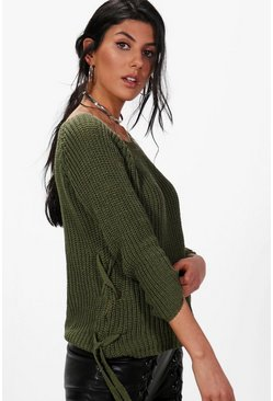 Lucy Lace Up Jumper