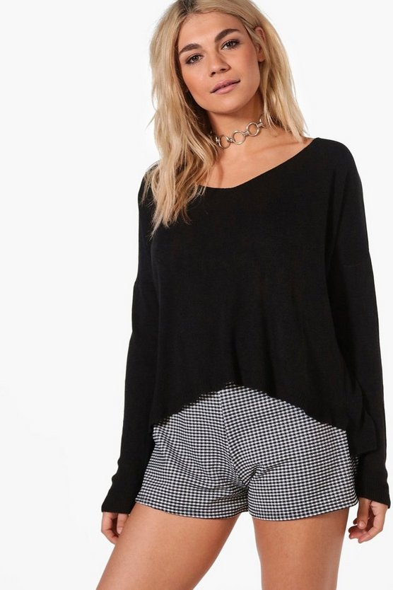 Megan Slouchy Fine Knit Jumper