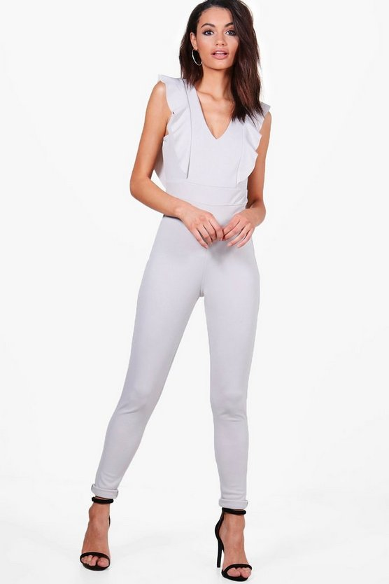 Abbie Frill Detail Tailored Jumpsuit