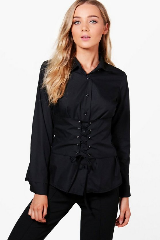 Carly Corset Tailored Shirt
