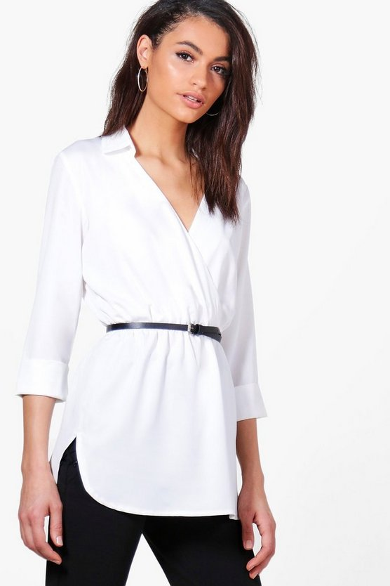 Michelle Wrap Over Premium Shirt