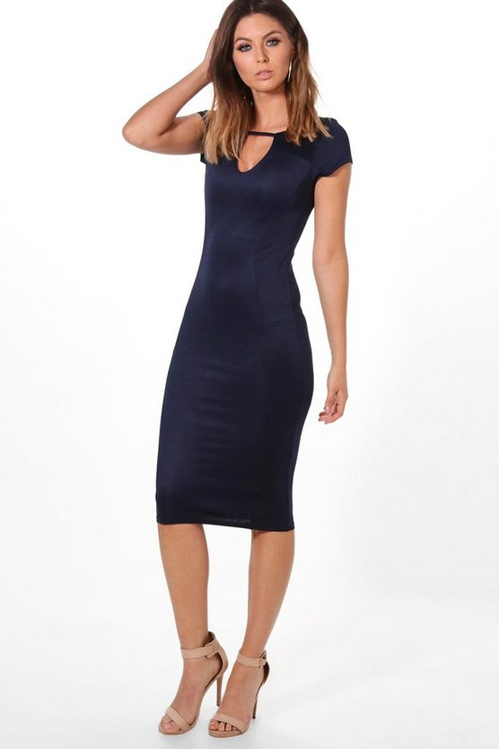 Emma Keyhole Cut Out Midi Dress