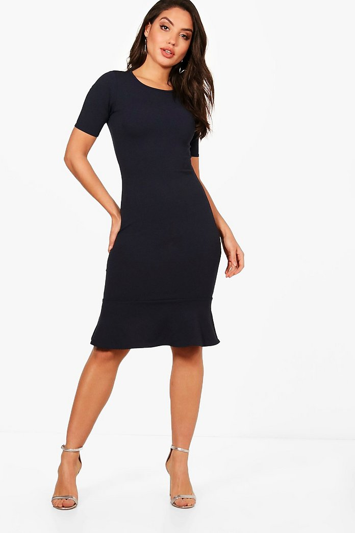 Aylin Frill Hem Midi Dress