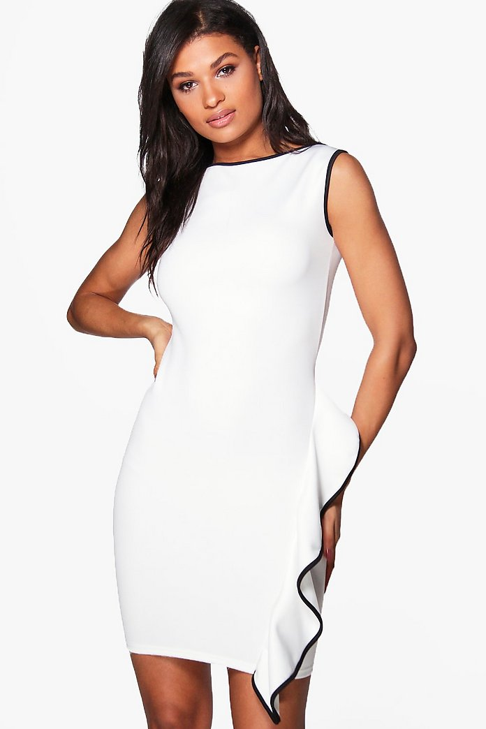Kelly Contrast Frill Dress