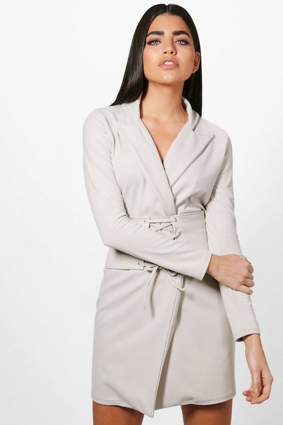 Milly Detachable Corset Belt Blazer Dress
