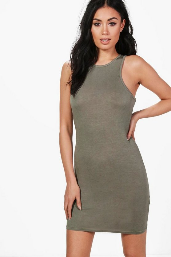 Michelle Racer Front Bodycon Dress