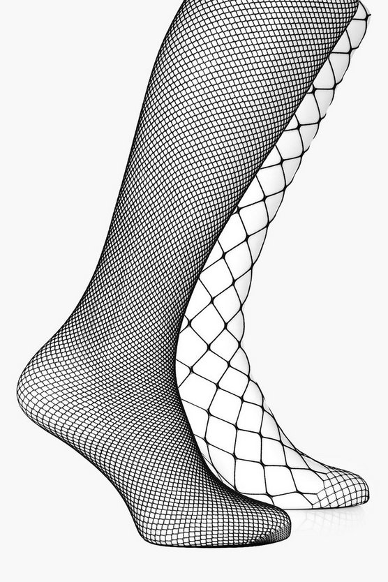 Holly Small & Large Scale Fishnet Tights 2 Pack