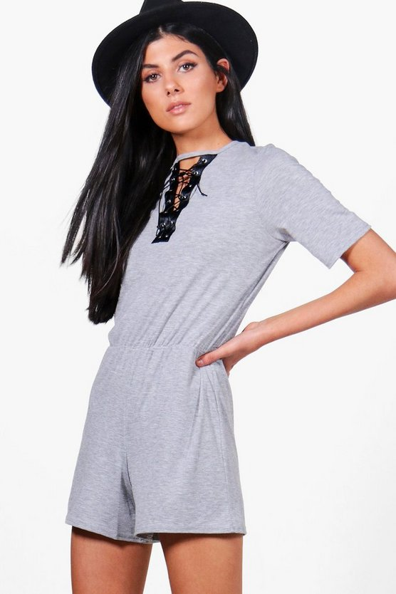 Isla Lace Up Casual Playsuit