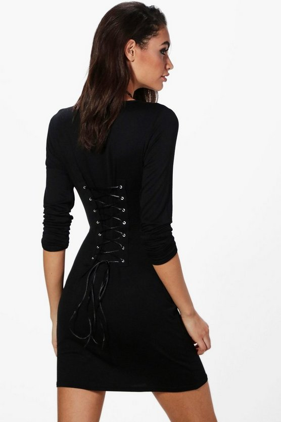 Alice Lace Up Back Bodycon Dress