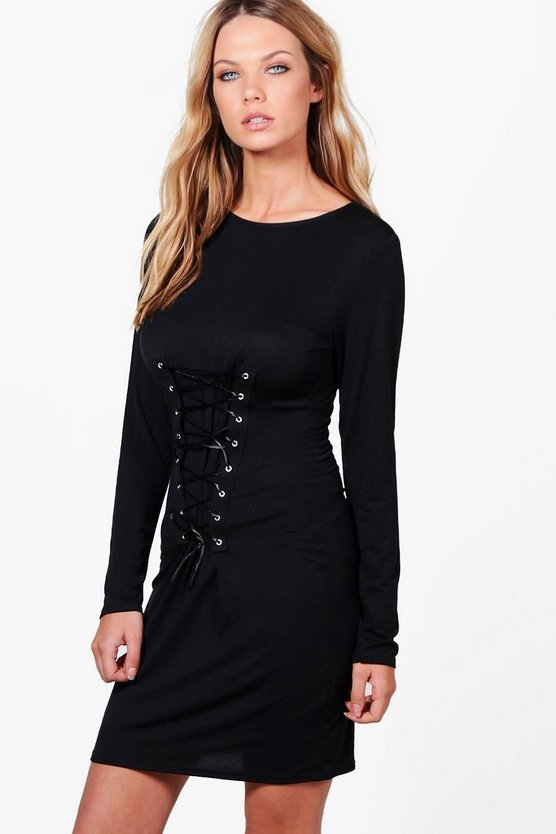 Isabelle Corset Lace Up Bodycon Dress
