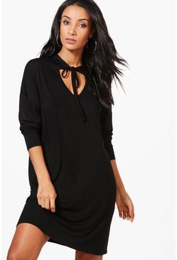 Isabel V Neck Choker Sweat Dress