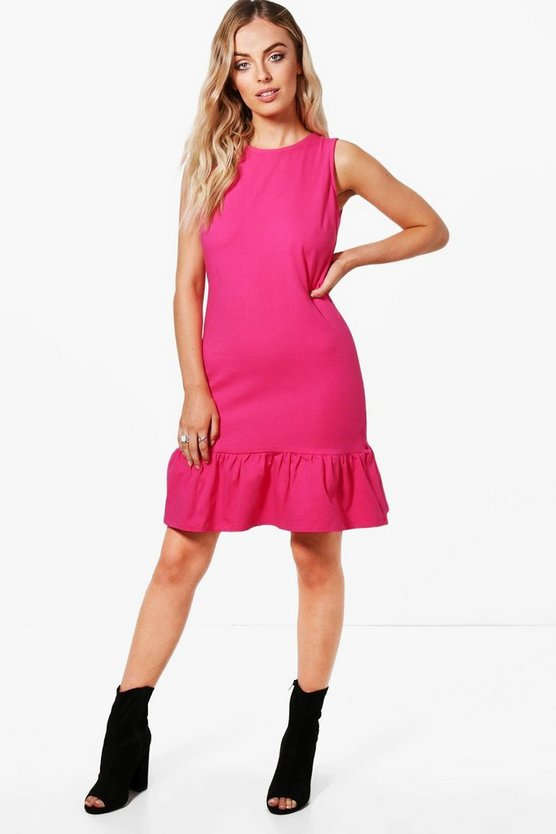 Ella Drop Ruffle Hem Sleeveless Dress