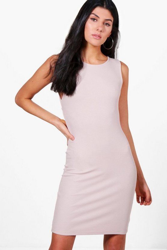 Ella Cross Over Back Detail Bodycon Dress