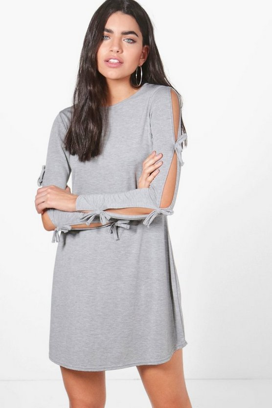 Scarlett Tie Sleeve Swing Dress