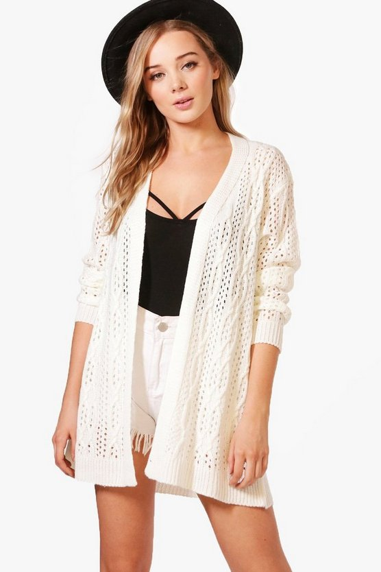 Jenna Crochet Cable Cardigan