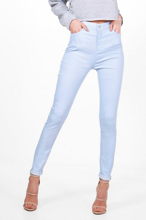 Molly 5 Pocket Pastel Denim Skinny Jeans