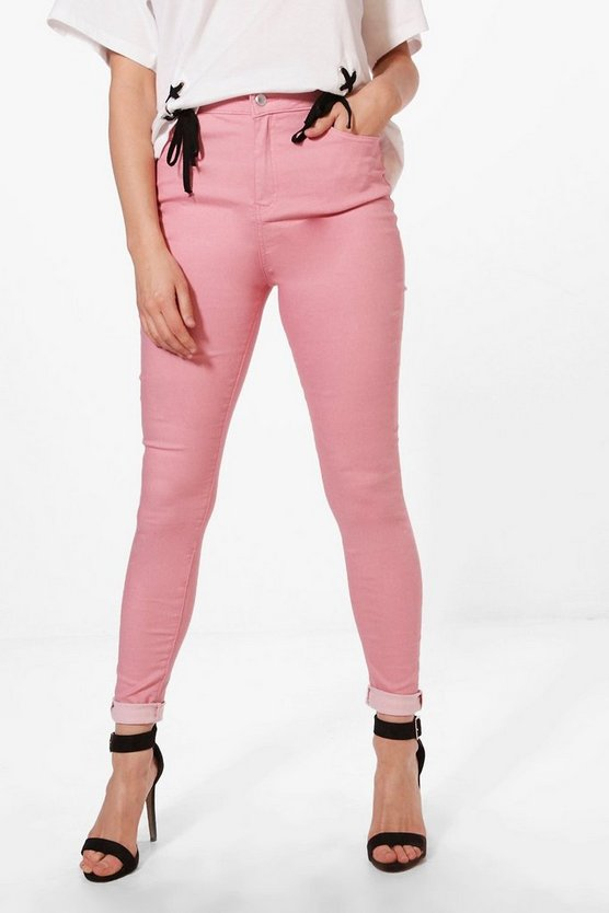 Molly 5 Pocket Pink Denim Skinny Jeans