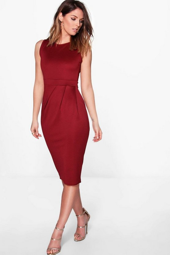 Mia Pleat Front Tailored Dress