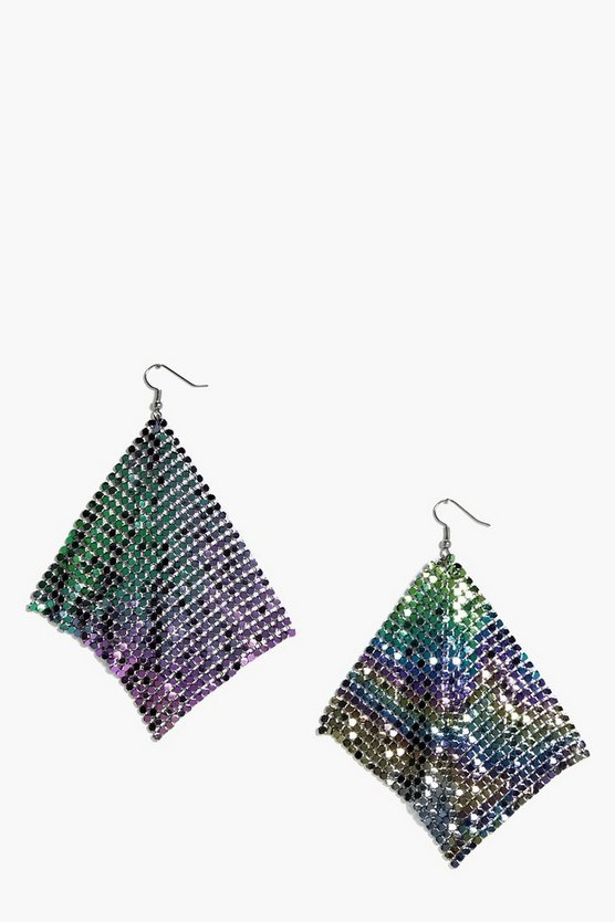 Cerys Mermaid Rainbow Chainmail Earrings