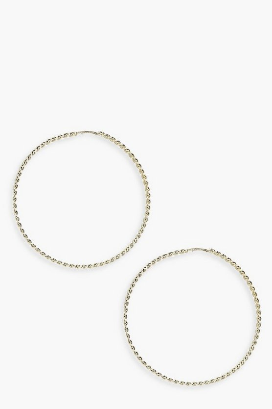 Lucia Twisted Hoop Earrings