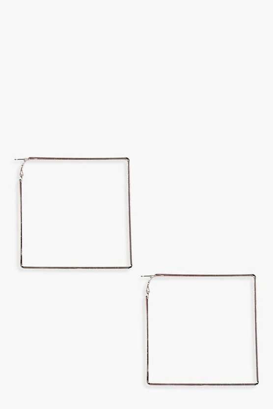 Mae Square Hoop Earrings