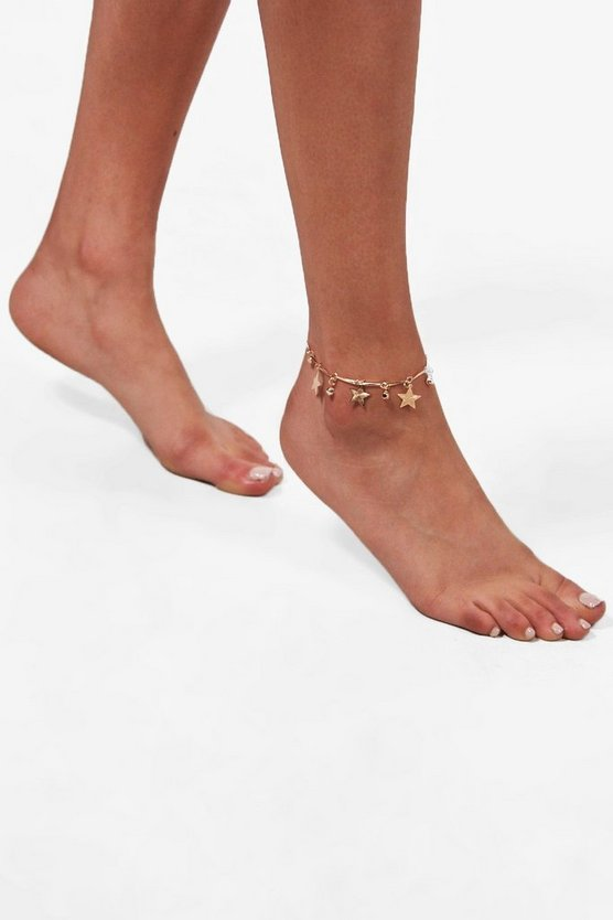 Star & Diamante Anklet