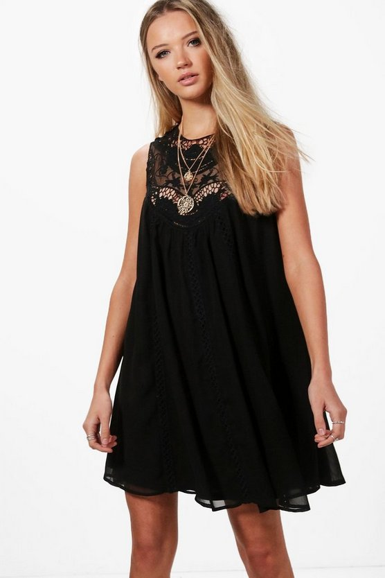 Beatrice Crochet Lace Swing Dress
