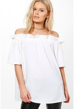 Kylie Off The Shoulder Frill Top