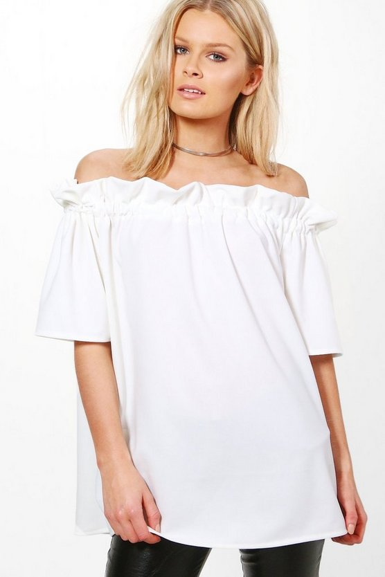 Megan Off The Shoulder Frill Top