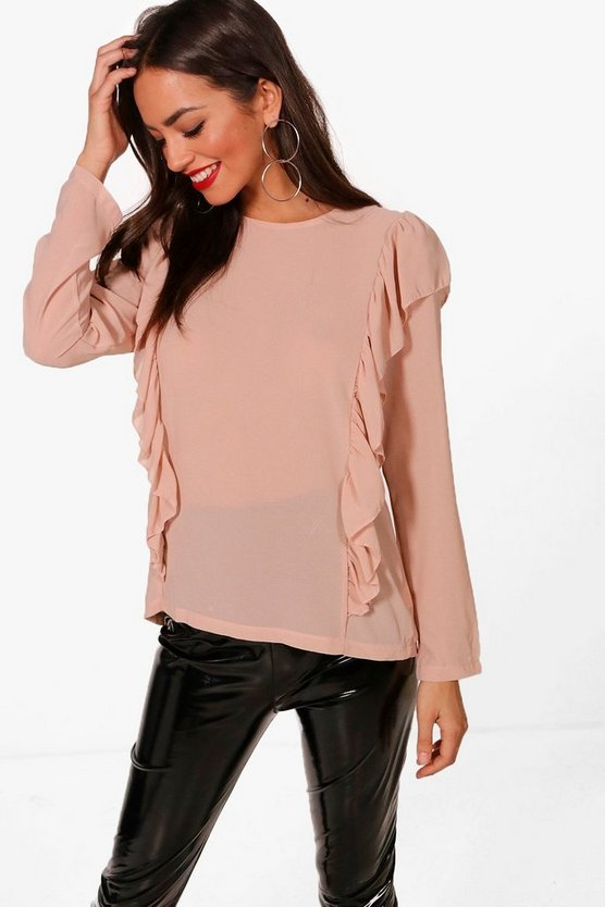 Ella Frill Panel Blouse
