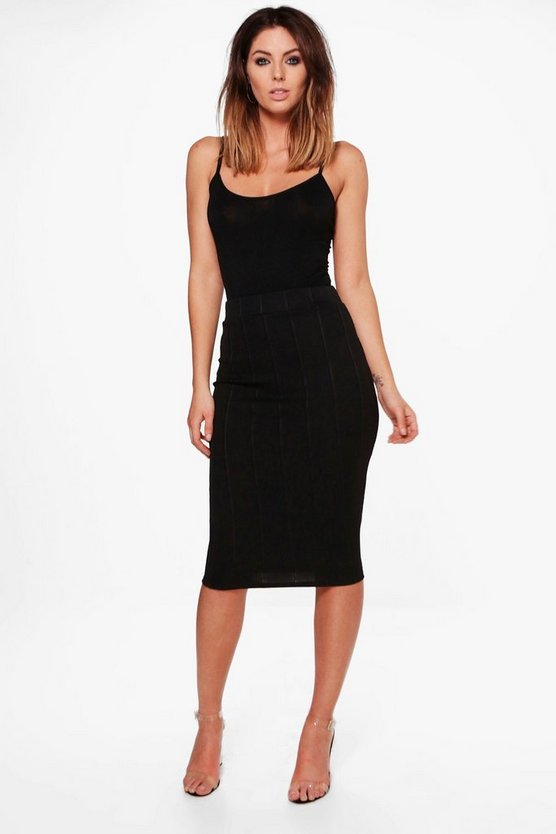 Molly High Waist Bandage Midi Skirt