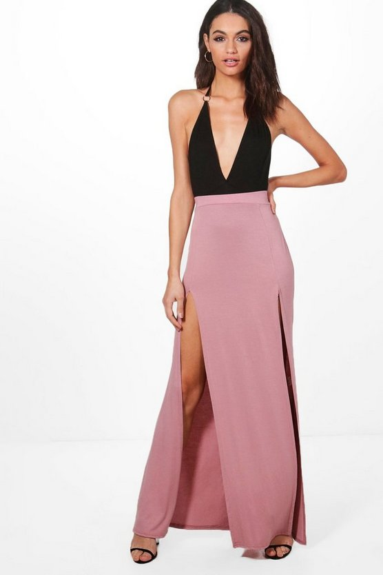 Eden Double Front Split Maxi Skirt