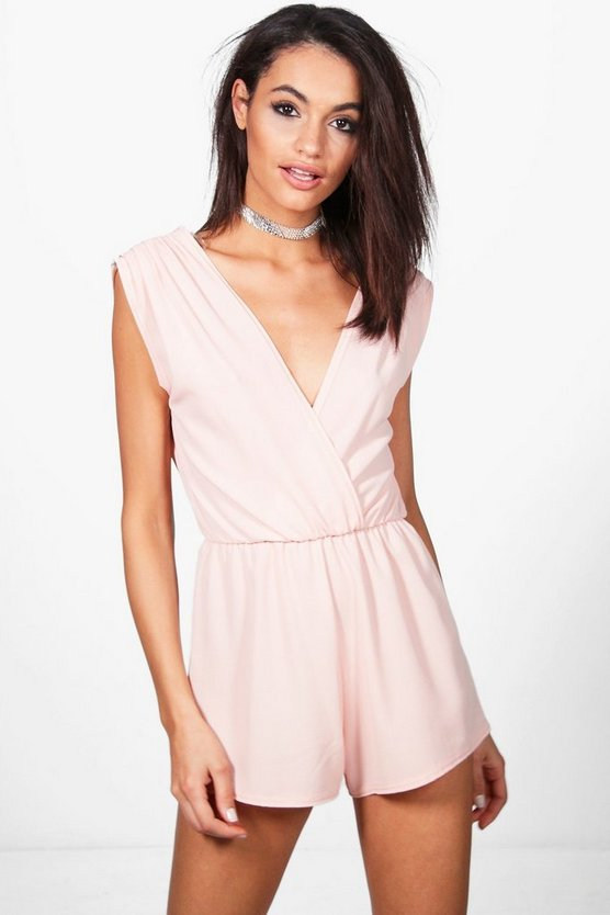Sophie Pleated Shoulder Playsuit