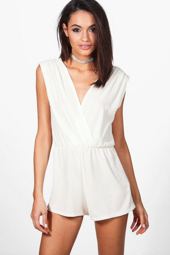 Pleated Shoulder Playsuit