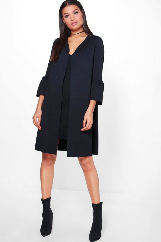 Frill Sleeve Duster