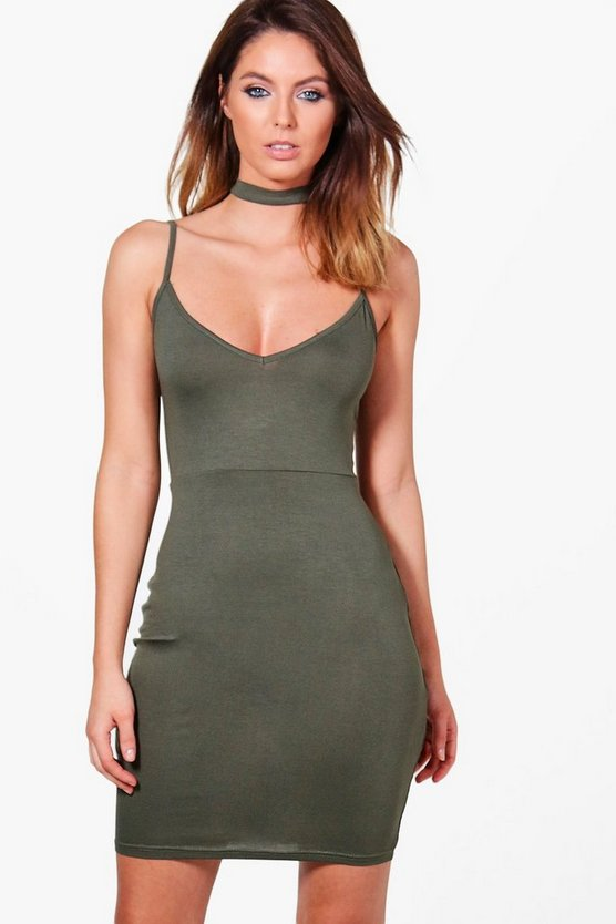Skye Choker Strappy Bodycon Dress