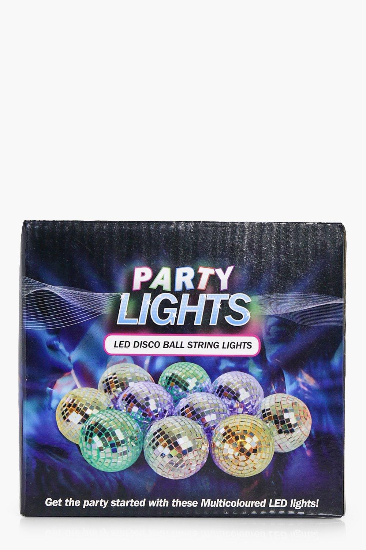 Light Up Disco Ball Fairy Lights - silver