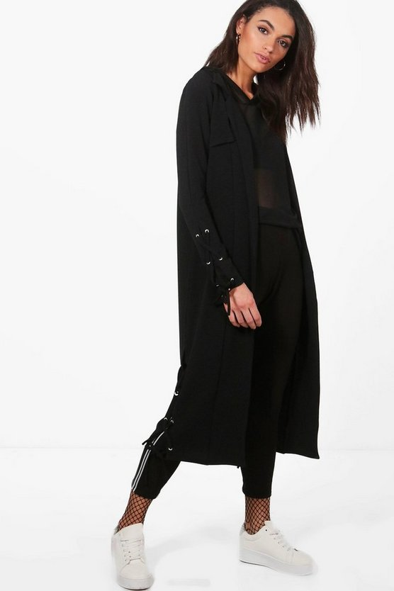 Jasmine Lace Up Side Eyelet Duster