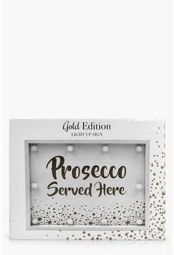 Prosecco Served Here LED light Box