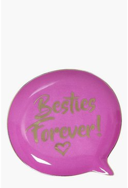 Besties Forever Speech Bubble Trinket Dish