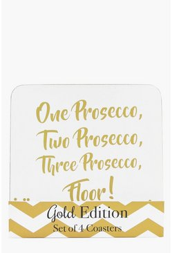 Prosecco Coaster Set of 4