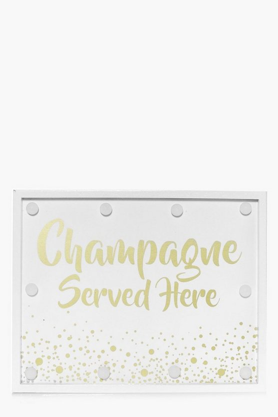 Champagne Served Here LED Light Box