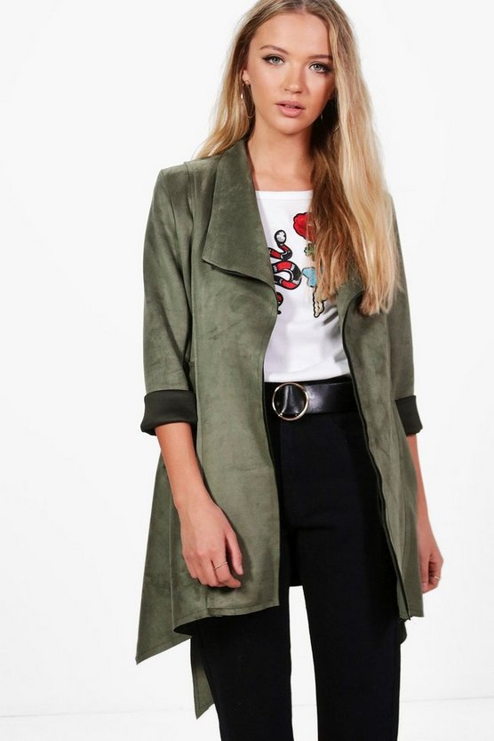 Olivia Suedette Waterfall Duster