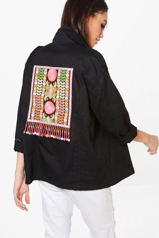 Boutique Alice Embroidered Utility Jacket