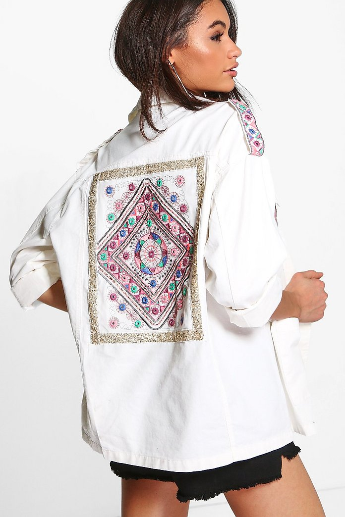 Boutique Melissa Embroidered Utility Jacket