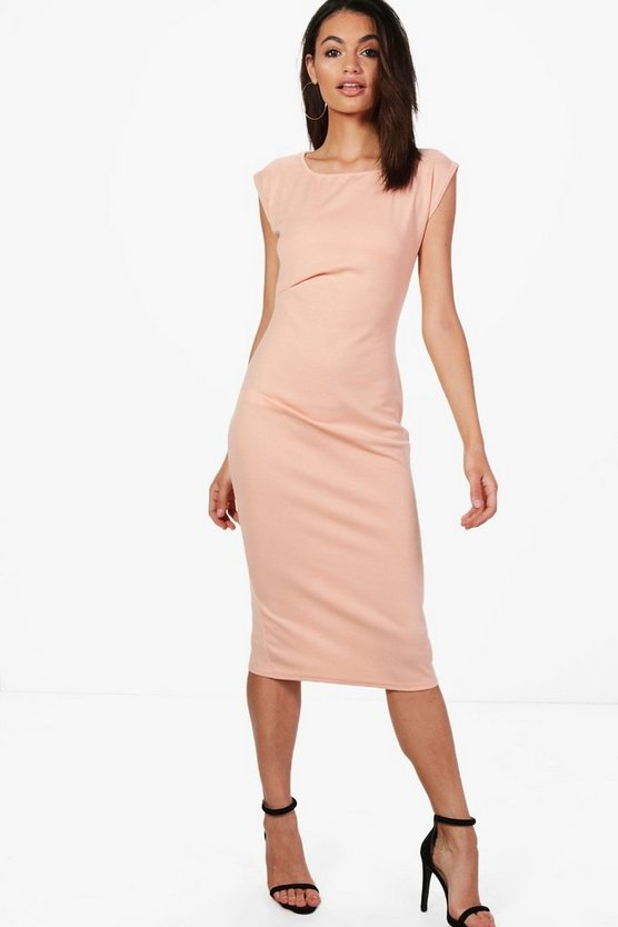 Hannah Ruched Midi Dress
