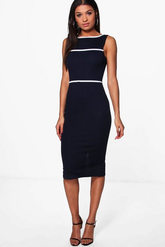 Louisa Contrast Trim Tailored Dress