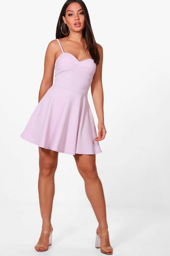 Carla Strappy Detail Skater Dress