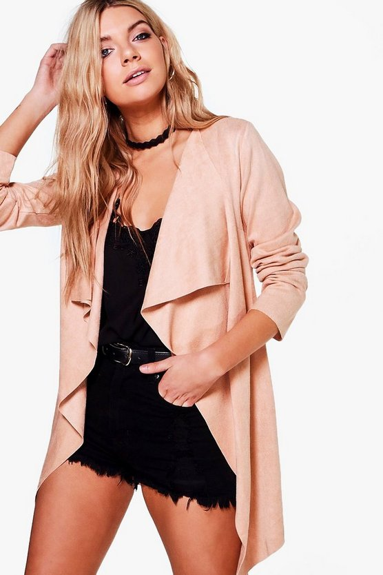 Erica Waterfall Suedette Jacket