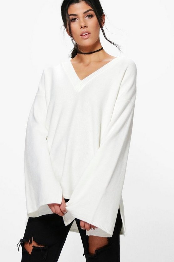 Hannah Oversized Wide Sleeve Jumper